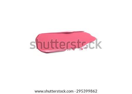 Lipstick Smeared - stock photo