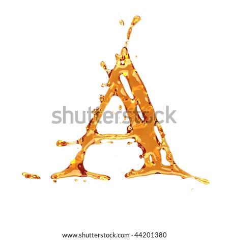 orange liquid alphabet letter o color stock illustration