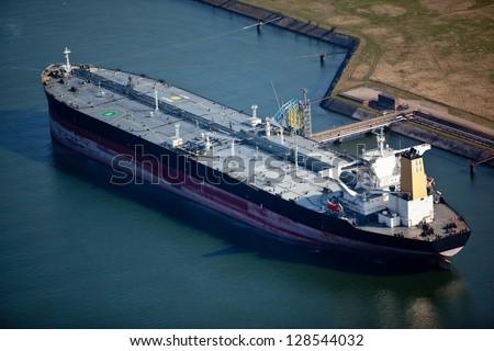 Liquid bulk oil tanker - stock photo