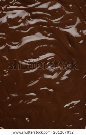 Liquid chocolate - stock photo