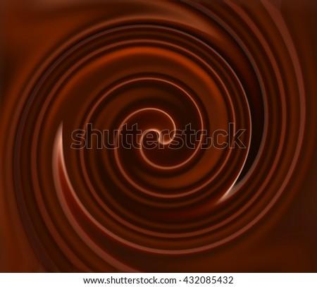 liquid chocolate full screen as background - stock photo