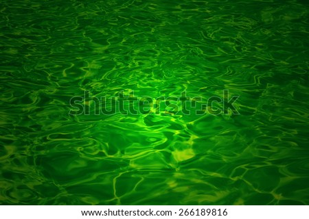 Liquid color - Abstract Art and Colorful Background - Flowing Emerald Green - stock photo