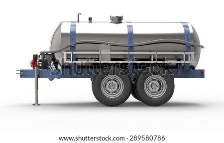 liquid container trailer isolated on a white background.