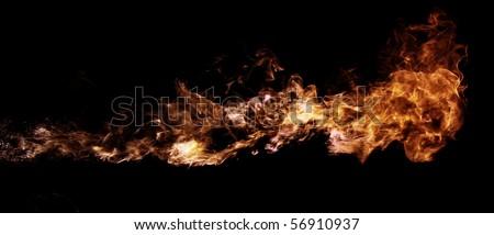 liquid flame thrower - stock photo