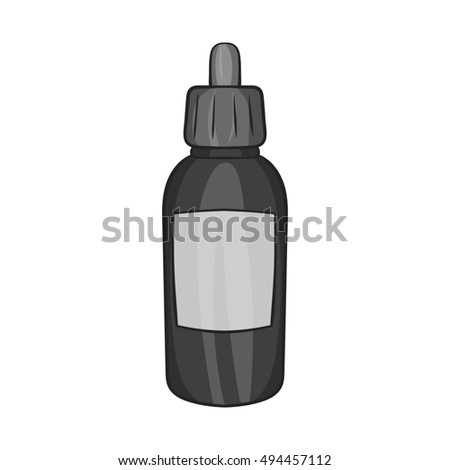 Liquid for electronic cigarettes icon in black monochrome style isolated on white background. Smoking symbol  illustration