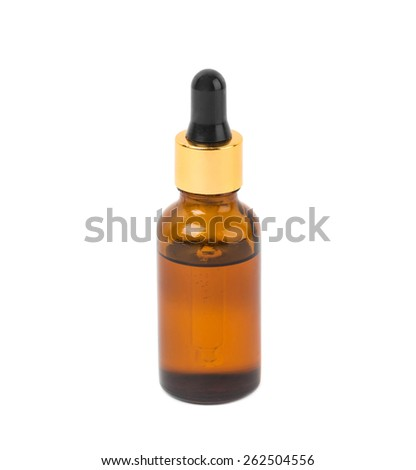 Liquid for modern electronic cigarettes. Isolated on a white background.
