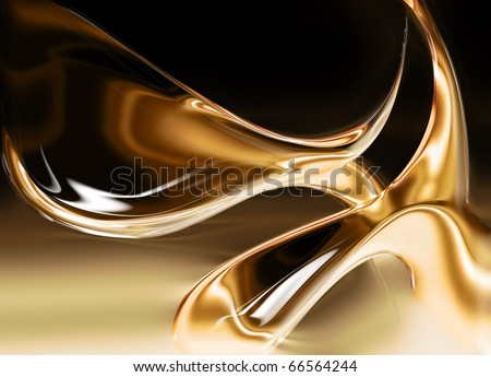 liquid gold background - stock photo