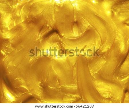 Liquid golden texture - stock photo