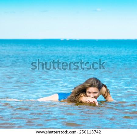 Liquid Happiness Hair Splash  - stock photo