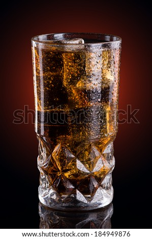liquid in a glass
