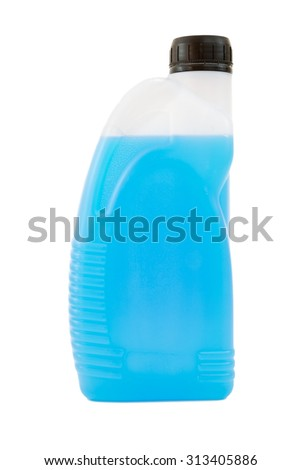 Liquid soap bottle isolated on a white background