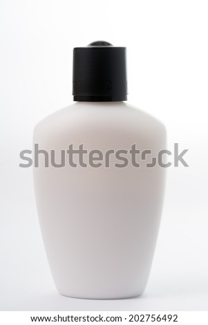 Liquid Soap white Plastic Bottle isolated with white background