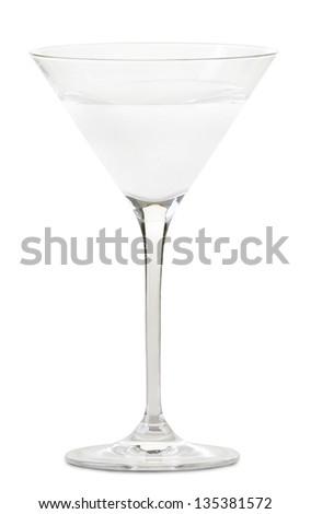 liquor in a martini glass(clipping path) - stock photo