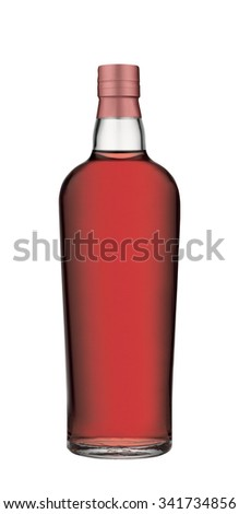 Liquor isolated on white