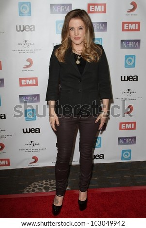 Lisa Marie Presley at the NARM Music Biz Awards Dinner Party, Century Plaza Hotel, Century City, CA 05-10-12