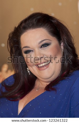 Lisa Riley arriving for the Strictly Come Dancing 2012 Launch, Television Centre, London. 11/09/2012 Picture by: Simon Burchell - stock photo