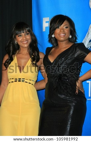 LisaRaye and Jennifer Hudson in the press room at the 40th NAACP Image Awards. Shrine Auditorium, Los Angeles, CA. 02-12-09