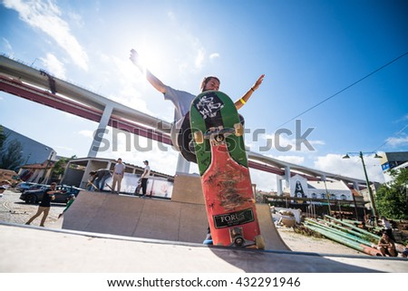 LISBOA, PORTUGAL - JUNE 4, 2016: Joao Viola during the Element Ramp Tour Farewell.