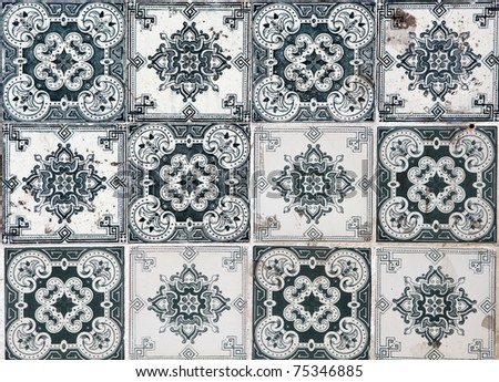 Lisbon azulejos - stock photo