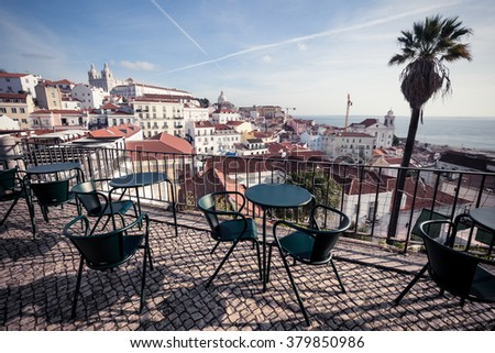 Lisbon cityscape, Portugal - stock photo
