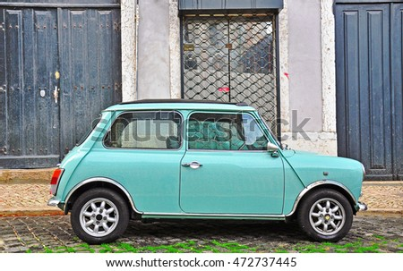 Old And New Blue Mini Cooper Stock Image - Image of ...  Old Blue Mini