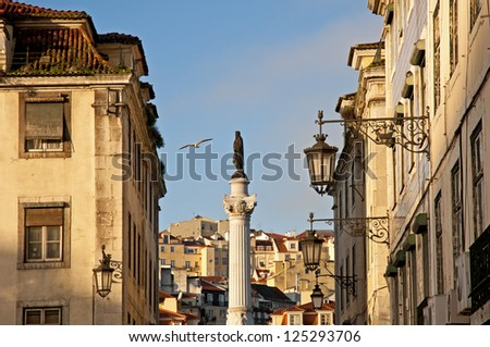 Lisbon downtown, Portugal - stock photo