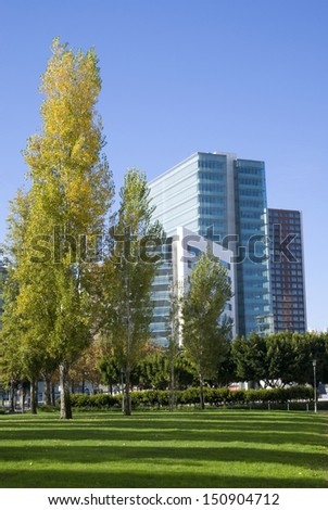 LISBON � NOVEMBER 28: View of the exterior of a modern office building in Lisbon office park an November 28, 2010.