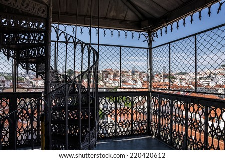 Lisbon observation lift view, Portugal