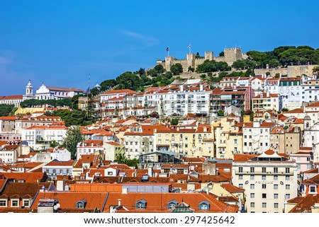 Lisbon, Portugal, fortress of Saint George view