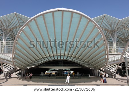 LISBON, PORTUGAL - JUNE 28: Modern architecture at the Oriente Station (Gare do Oriente) in Lisbon. June 28, 2010 in Lisbon, Portugal