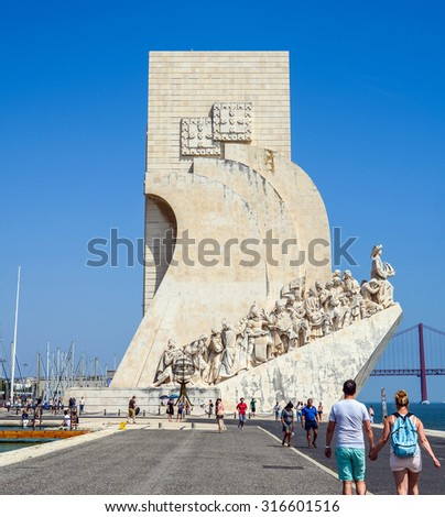 Lisbon, Portugal. Monument to the Discoveries. Taken on 2015/08/30