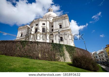 Lisbon, view of Pantheon / Santa Engrassiya's church - stock photo