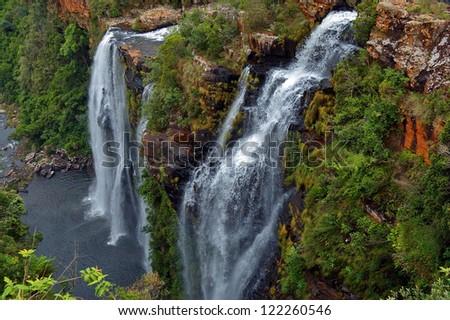 Lisbon waterfall. Blyde river, Mpumalanga, Drakensberg, South Africa - stock photo