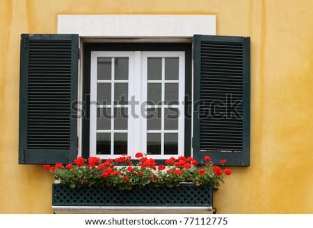 Lisbon window - stock photo