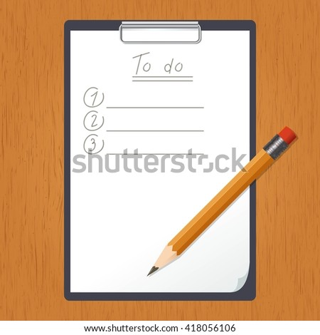 List of doing and the pencil