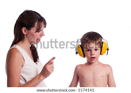 Listen here young man - stock photo