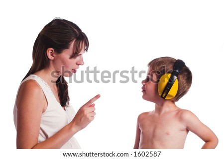 Listen to Mommy Please - stock photo