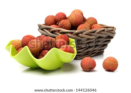 Litchi isolated on white background