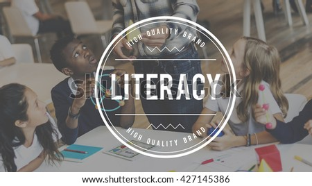 Literacy Books College Instruction Learning School Concept - stock photo