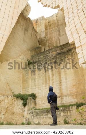 Lithica, S'Hostal Quarries. Menorca, Balearic Islands - stock photo