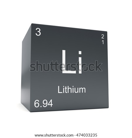 Lithium chemical element symbol periodic table stock illustration lithium chemical element symbol from the periodic table displayed on black cube 3d render urtaz Images