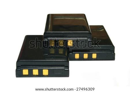 lithium ion batteries - stock photo