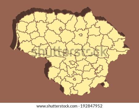 Lithuania Map - stock photo
