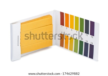 Litmus ph test paperisolated on white - stock photo