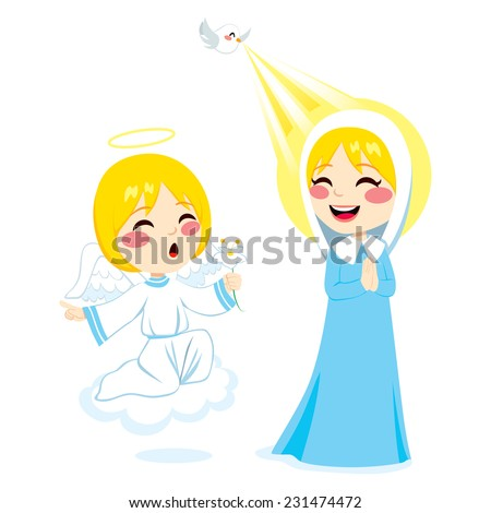 Archangel Gabriel Virgin Mary Stock Images, Royalty-Free Images ...