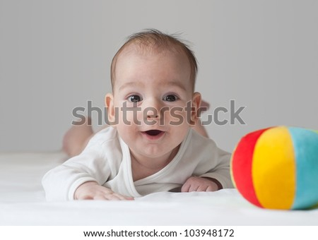 Little Baby Boy - stock photo