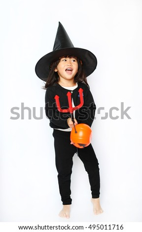 Little baby halloween witch