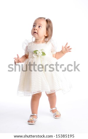 Little Baby in White Dress