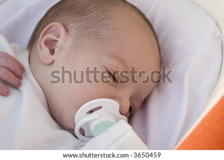 Little baby of 5 days old - stock photo
