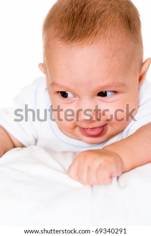 little baby on a white background